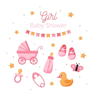 Baby shower gender reveal for girl