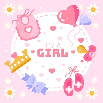Baby shower gender reveal girl