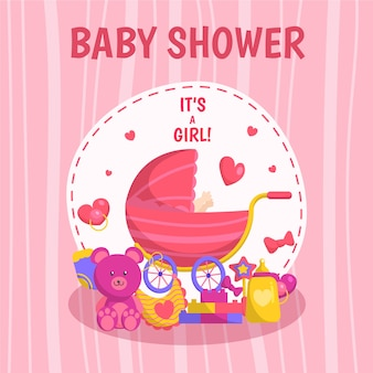 Baby shower girl background