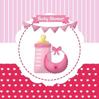 ベビーシャワーの女の子