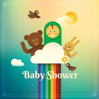 Baby shower illustration