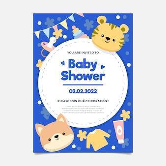 Baby shower invitation for baby boy