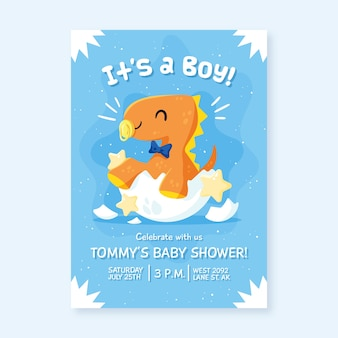 Baby shower invitation for baby boy