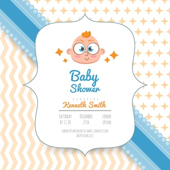 Baby shower invitation card, baby arrival announcement card