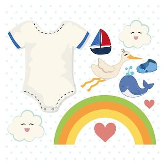 Baby shower invitation card design