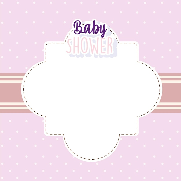 Baby shower invitation card welcome newborn layout vector illustration