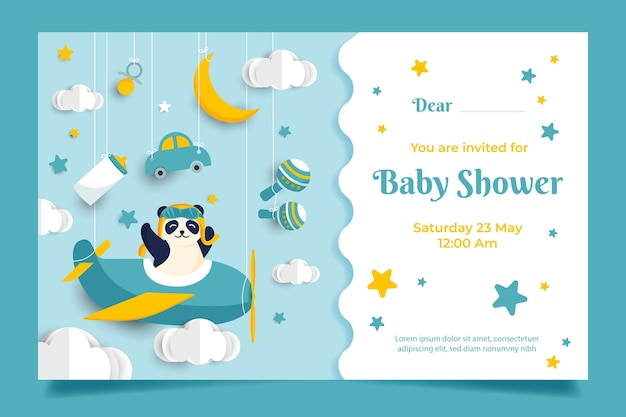 This is an image of Free Baby Shower Invitations Printable throughout powerpoint