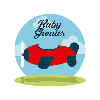 Baby shower invitation cute toy