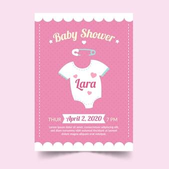 女の子のためのベビーシャワーの招待