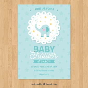 Baby shower invitation in flat style