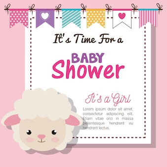 Baby shower invitation with stuffed animal