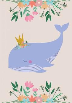 クジラ漫画とベビーシャワーの招待