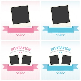 Baby shower invitations collection