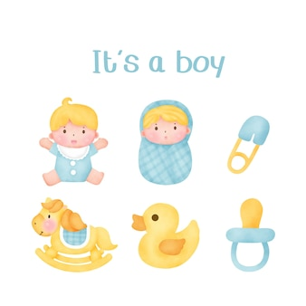 Детский душ - это элементы мальчика.