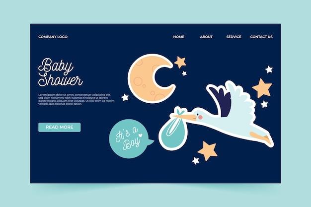 Pagina di destinazione per baby shower