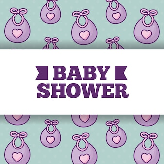 Baby shower over cute bibs background