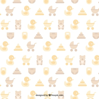 Baby shower pattern in pastel colors