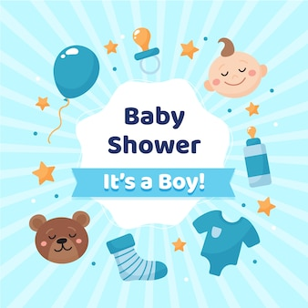 Baby shower reveal for boy