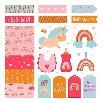 Baby shower scrapbook collection