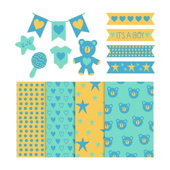 Baby shower scrapbook pack