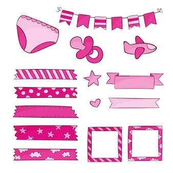 Baby shower scrapbook set