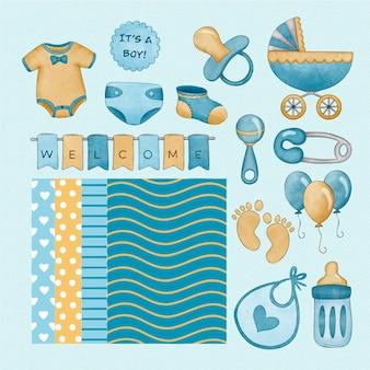 Baby shower scrapbook set