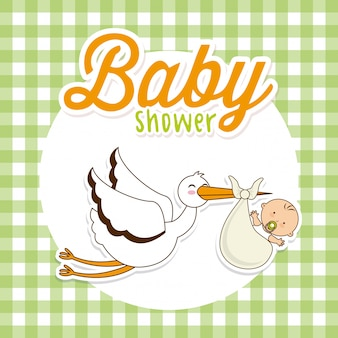 Baby shower simple element