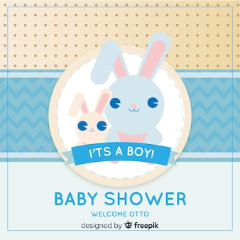 Baby shower template for boy