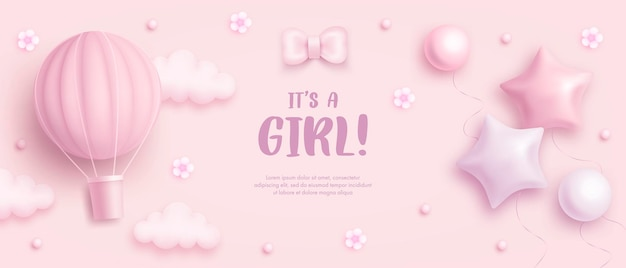 Шаблон детского душа для девочки