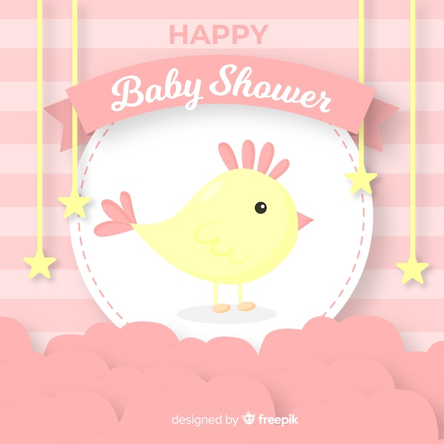 Free Baby Shower Template For Girl Svg Dxf Eps Png Free Svg Cut