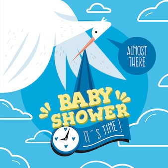 Baby shower thematic concept for boy