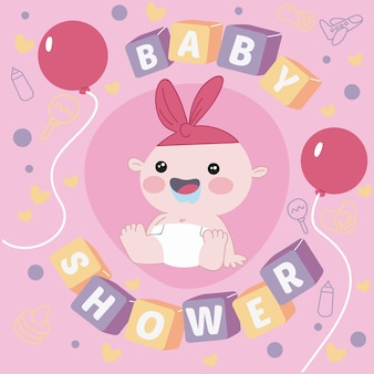 Baby shower thematic concept for girl