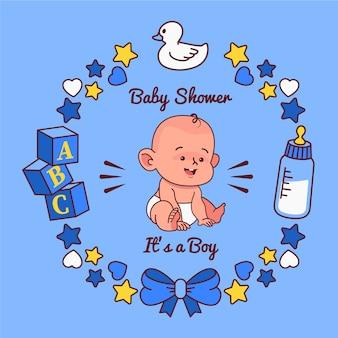 Детский душ с дизайном мальчика