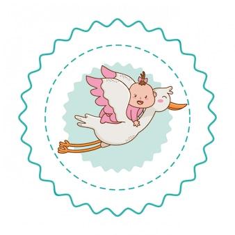 Baby shower милые красивые иллюстрации