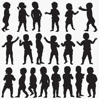 Baby silhouettes