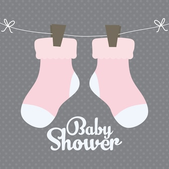 Baby socks clothes cute icon