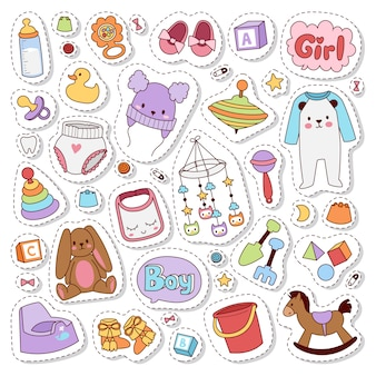 Baby stickers badge .