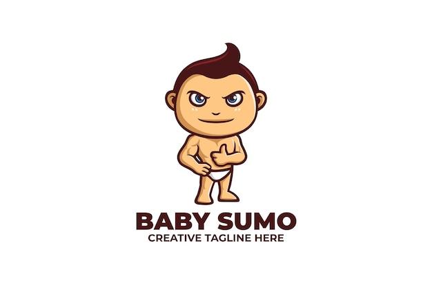 Baby sumo mascot logo