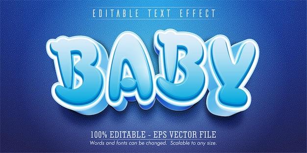 아기 텍스트, 만화 스타일 편집 가능한 텍스트 효과
