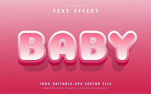 Baby text effect cartoon style