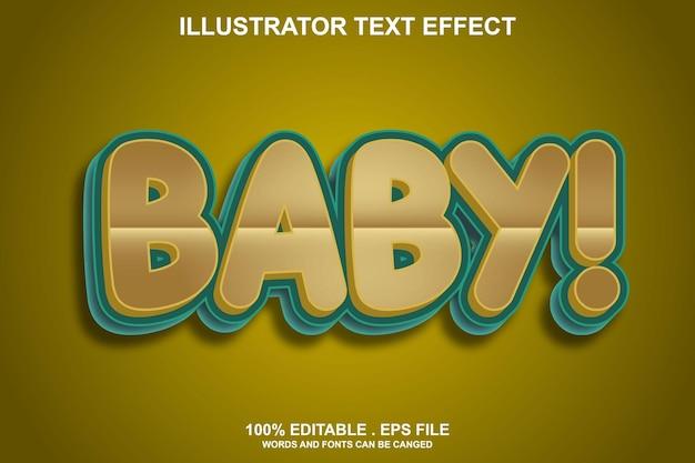 Детский текстовый эффект редактируемый