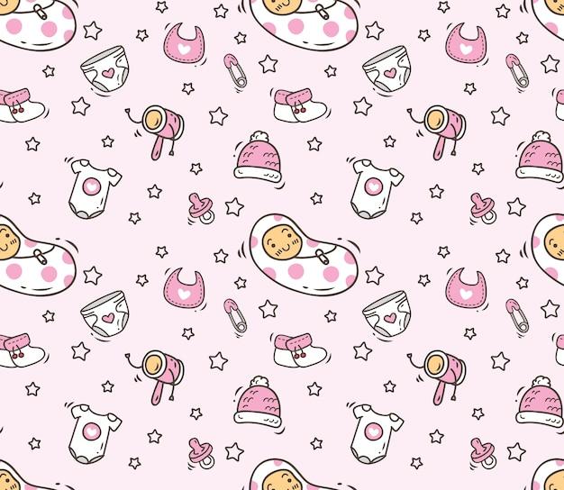 Baby theme seamless background