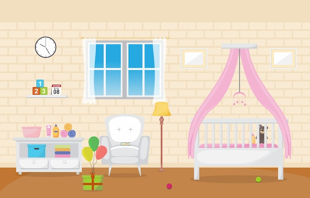 Baby toddler children bedroom interior room furniture