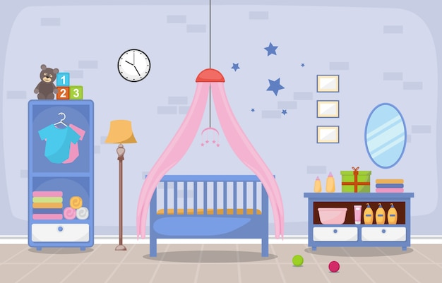 Baby toddler children bedroom interior room furniture