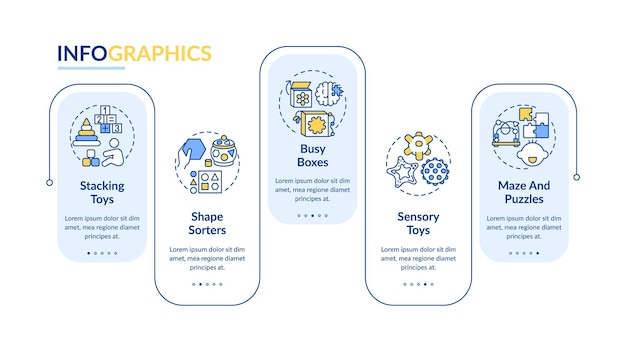 Baby toys infographic template