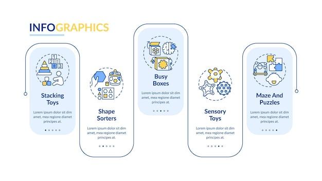 Детские игрушки инфографики шаблон