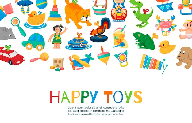 Baby toys to play illustration.