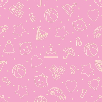 Baby toys seamless pattern.can be used for textiles, paper