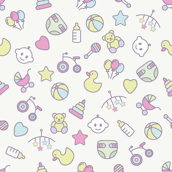 Baby toys seamless pattern