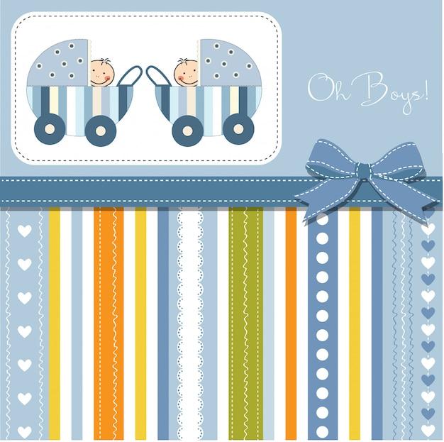 赤ちゃん双子発表カード